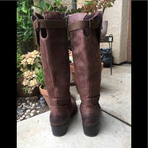 UGG Shoes - Ugg Leather Riding Boots Sherpa Lined Brown Size 6